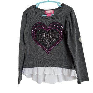 DREAMSTAR Gray with Pink Embellished Heart  S (4)